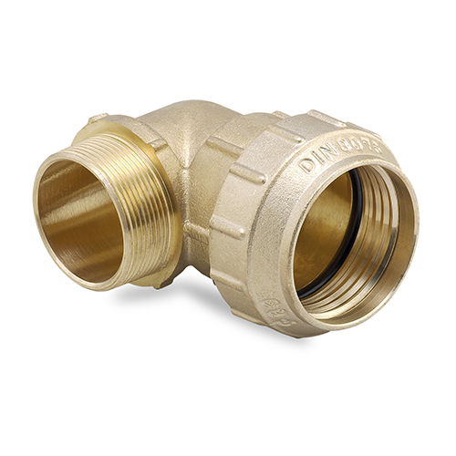 90° coupling, male threaded
