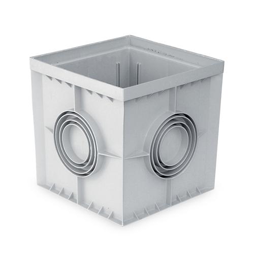 Drain well box - PP grey RAL 7035