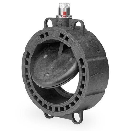 System check valve, auto/lock and position indication