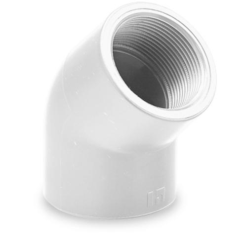Codo 45° rosca H/H - serie blanca