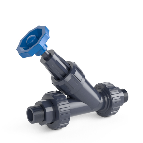 Angle seat valve, male threaded outlet