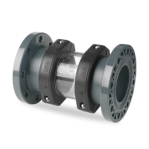 Flanges outlet - Sight glass body