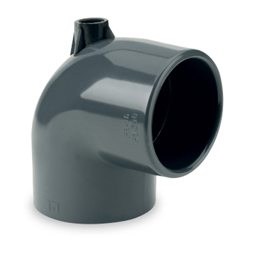 """""""AIR"""" 90° elbow, solvent socket outlet"""