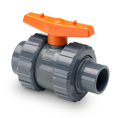 BIDIRECTIONAL BALL VALVE FEMALE - MALE SOLVENT SOCKET  1