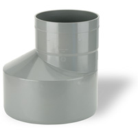 Excentric augmentation, solvent socket PVC RAL 7037