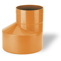 Excentric augmentation, elastic seal - PVC russet RAL 8023