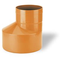 Ampliación excéntrica j. elás. - PVC teja RAL 8023