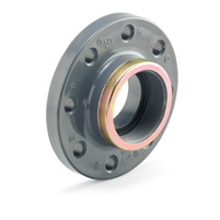 Reinforced compact flange, female threaded