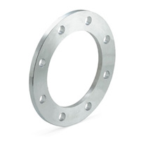 Galvanized steel security plain flange for PVC adaptors
