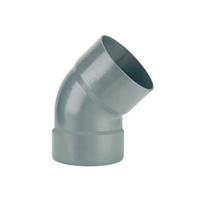 45° elbow female - female solvent socket PVC RAL 7037