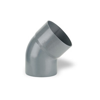 45° elbow male - female solvent socket PVC RAL 7037