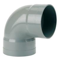 87°30 elbow, female/female solvent socket PVC RAL 7037