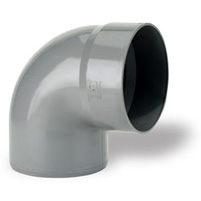87°30 elbow, male/female solvent socket PVC RAL 7037