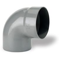 Codo 87°30 Macho - Hembra encolar PVC RAL 7037