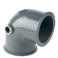 "Codo 90° Netvict Sistem PVC ""AIR-L"" Salida R/H"