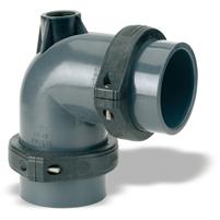 "Codo 90° Netvitc System® PVC ""AIR"" C/B salida R/H"