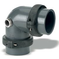"Codo 90° Netvitc System PVC ""AIR-L"" C/B Salida R/H"