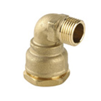 Male threaded 90° connection - Outer nut