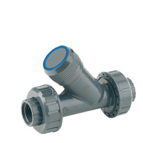 Angle seat filter, solvent socket outlet - EPDM seal