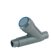 Angle seat filter, male plain outlet - EPDM seal