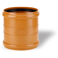 Union coupling F-F elastic seal - PVC russet RAL 8023