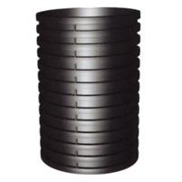 Manguito unión H-H tubo corrugado negro