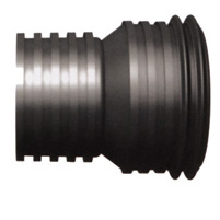 Reducción H-H tubo corrugado negro