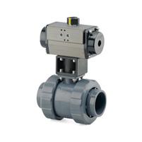 Solvent socket outlet -Single acting spring return actuator - PFTE