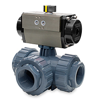 THREADED FEMALE OUTLET - DOUBLE ACTING PNEUMATIC ACTUATOR - PFTE