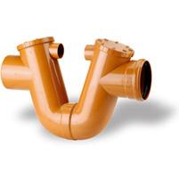 Siphon protecion cover, elastic seal - PVC russet RAL 8023