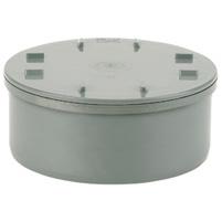 Access cap, solvent socket PVC RAL 7037