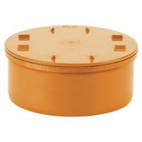 Access cap, elastic seal - PVC russet RAL 8023