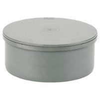 Blind cap, solvent socket PVC RAL 7037