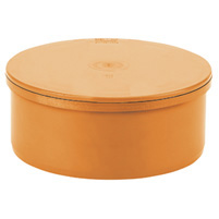 Blind cap, elastic seal - PVC russet RAL 8023