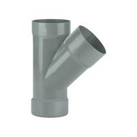 45° tee female - female solvent socket PVC RAL 7037