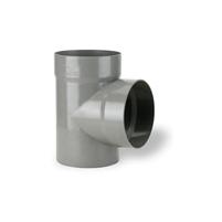 87°30 tee male - female solvent socket PVC RAL 7037
