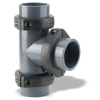 Te 90° Netvitc System® PVC C/B