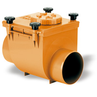 Check valve with O-ring - PVC russet RAL 8023