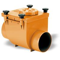 Válvula anti retorno junta PVC Teja Ral 8023