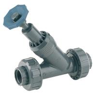 Angle seat valve, solvent socket outlet - EPDM seal