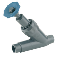 Angle seat valve, male solvent socket outlet - EPDM seal