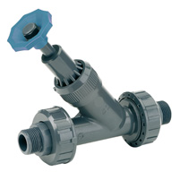 Angle seat valve, male threaded outlet - EPDM seal