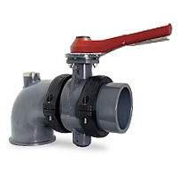 "Netviyc System valve, plain threaded outlet, ""AIR"" elbow connection"