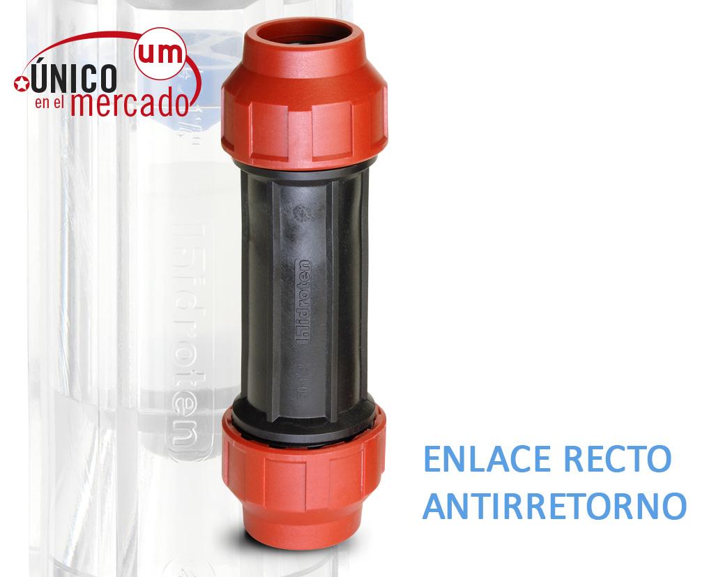 ENLACE RECTO ANTIRRETORNO