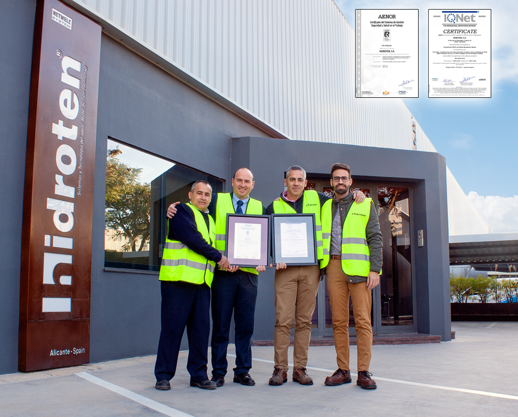 HIDROTEN OBTAINS ISO 45001 CERTIFICATION