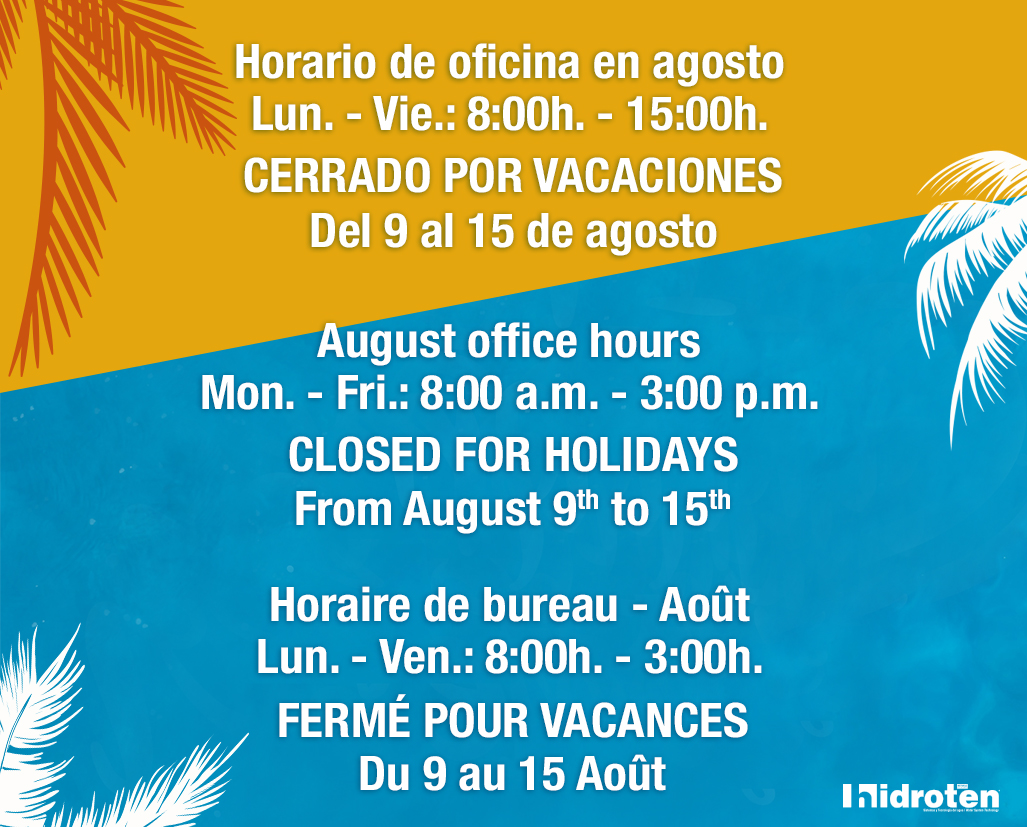 AUGUST OFFICE HOURS AND HOLIDAYS