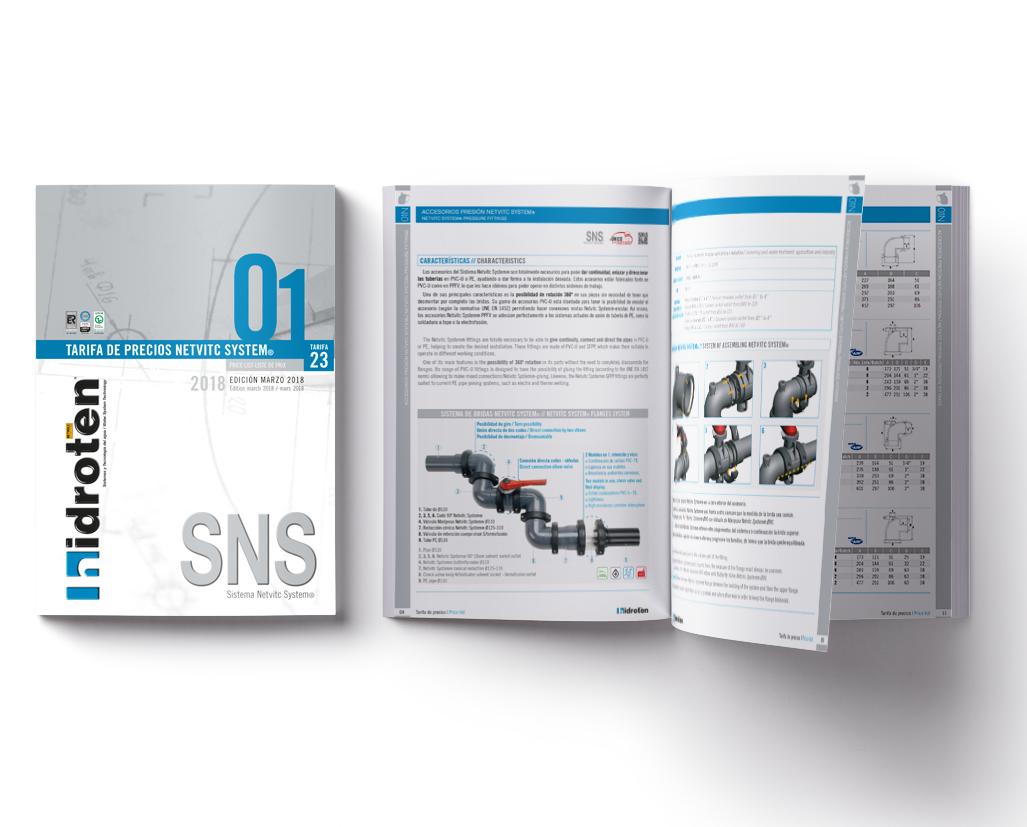 NEW SNS® PRICE LIST N. 23.01