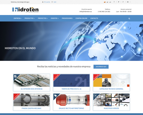 NUEVA WEB DE HIDROTEN YA DISPONIBLE