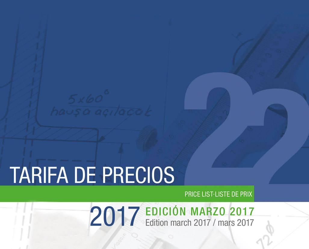 PRÓXIMAMENTE: TARIFA DE PRECIOS Nº22