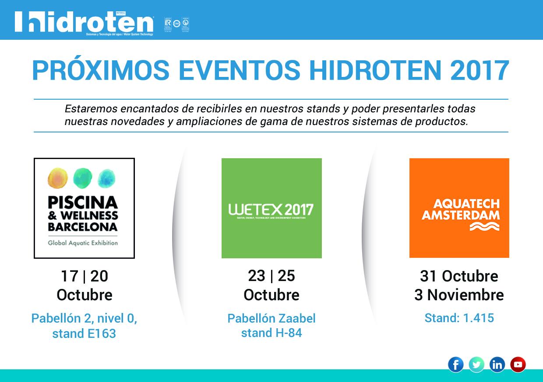 PRÓXIMOS EVENTOS HIDROTEN 2017